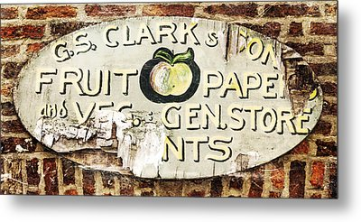 C.s. Clark Vintage Sign Metal Print by Hal Halli