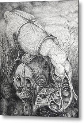 Ctulhu Seedpods Metal Print by Otto Rapp