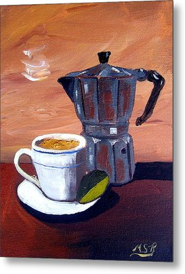 Cuban Coffee And Lime Tan Right Metal Print by Maria Soto Robbins