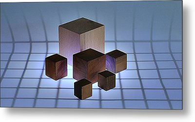 Cubes Metal Print by Mark Fuller