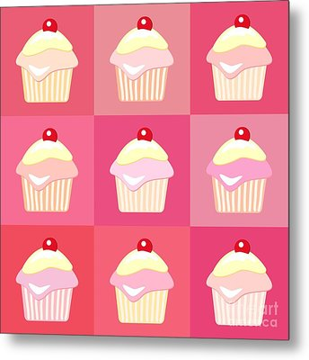 Cupcakes Pop Art  Metal Print by Jane Rix