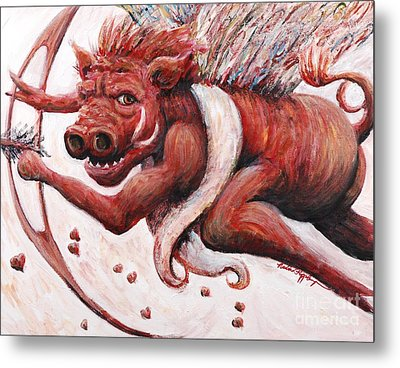 Cupig Metal Print by Nadine Rippelmeyer