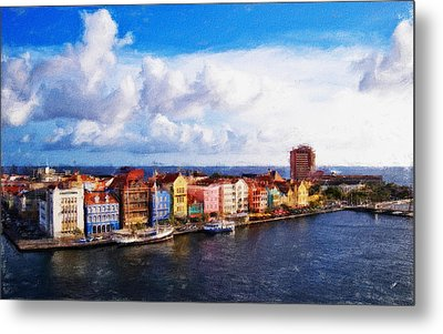 Curacao Oil Metal Print by Dean Wittle