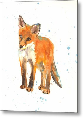 Curious Kit Metal Print by Alison Fennell