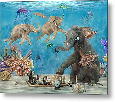 Curious Ocean Metal Print by Betsy Knapp