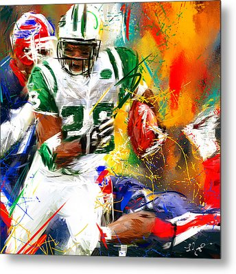 Curtis Martin New York Jets Metal Print by Lourry Legarde