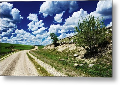 Curving Gravel Road Metal Print by Eric Benjamin