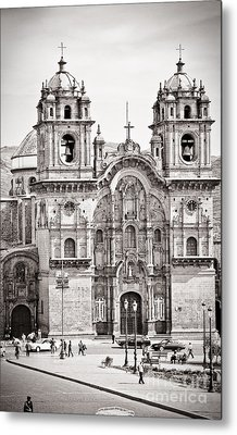 Cusco Cathedral Metal Print by Darcy Michaelchuk