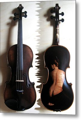 Custom Gliga Violin 2 Metal Print by Dino Muradian