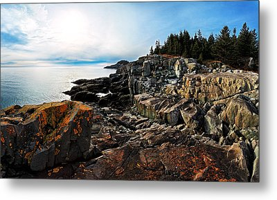 Cutler Coast Stillness Metal Print by Bill Caldwell -        ABeautifulSky Photography