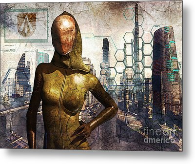 Cyber Queen Metal Print by Luca Oleastri