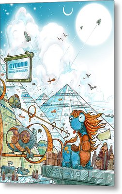 Cydonia - Lost Mars Metal Print by Luis Peres