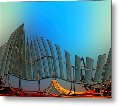 Da Vinci's Outpost Metal Print by Wendy J St Christopher