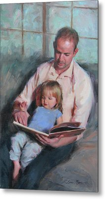 Daddy's Girl Metal Print by Anna Rose Bain