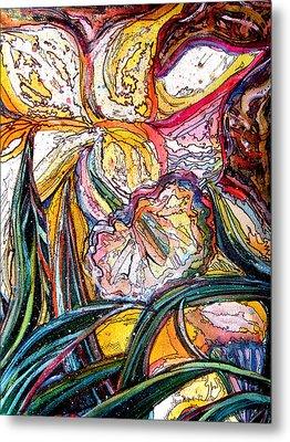 Daffodil Delirium Metal Print by Mindy Newman