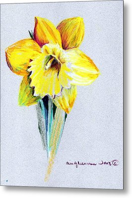 Daffodil Metal Print by Mindy Newman
