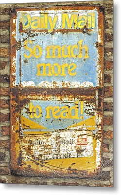 Daily Mail....vintage Sign Metal Print by Hal Halli