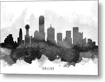 Dallas Cityscape 11 Metal Print by Aged Pixel