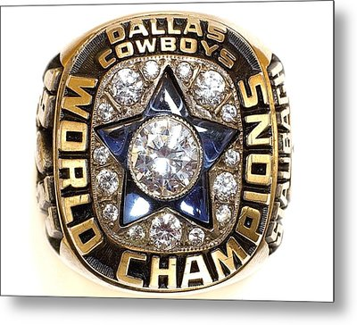 Dallas Cowboys First Super Bowl Ring Metal Print by Paul Van Scott