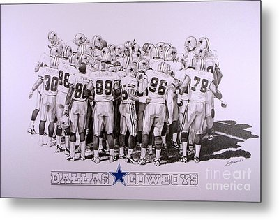 Dallas Cowboys Metal Print by Shawn Stallings