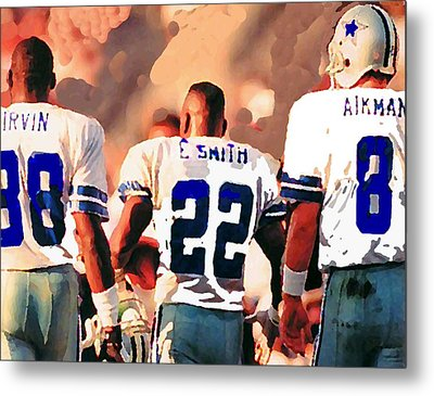 Dallas Cowboys Triplets Metal Print by Paul Van Scott