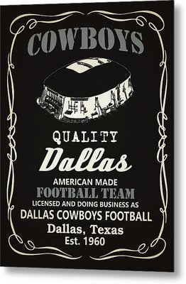Dallas Cowboys Whiskey Metal Print by Joe Hamilton