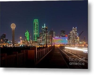 Dallas Downtown Night Metal Print by Tod and Cynthia Grubbs