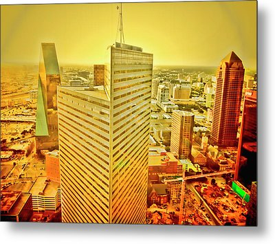 Dallas Gold Metal Print by Douglas Barnard
