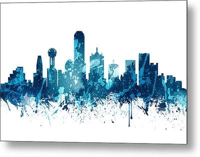 Dallas Texas Skyline 19 Metal Print by Aged Pixel