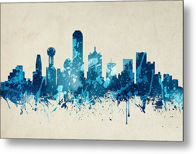 Dallas Texas Skyline 20 Metal Print by Aged Pixel