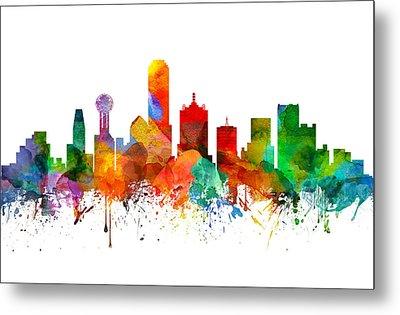 Dallas Texas Skyline 21 Metal Print by Aged Pixel