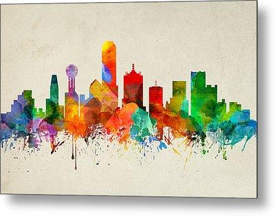 Dallas Texas Skyline 22 Metal Print by Aged Pixel
