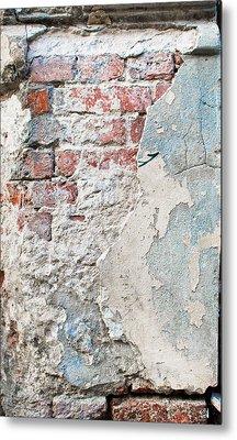 Damaged Brick Wall Metal Print by Tom Gowanlock