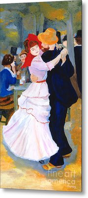 Metal Print featuring the painting Dance At Bougival After Renoir by Rodney Campbell