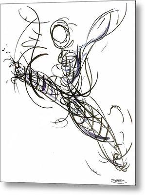 Dance Leap Force Metal Print by Laura Higgins Palmer