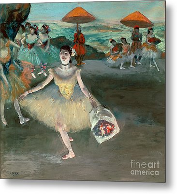 Dancer With Bouquet Metal Print by Edgar Degas