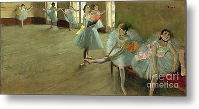 Dancers In The Classroom Metal Print by Edgar Degas