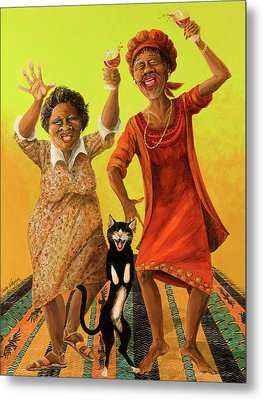 Dancin' Cause It's Tuesday Metal Print by Shelly Wilkerson