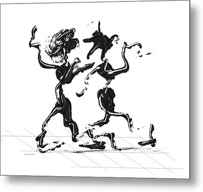 Dancing Couple 1 Metal Print by Manuel Sueess
