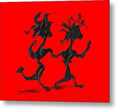 Dancing Couple 7 - Red Metal Print by Manuel Sueess