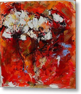 Dancing Flowers Metal Print by Elise Palmigiani