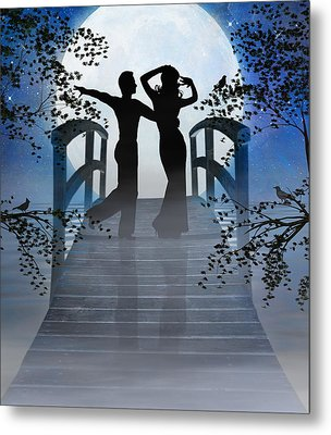 Dancing In The Moonlight Metal Print by Nina Bradica