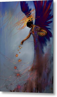 Dancing The Lifes Web Star Gifter Does Metal Print by Stephen Lucas