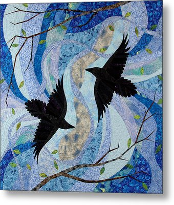 Dancing With The Chinook Metal Print by Linda Beach