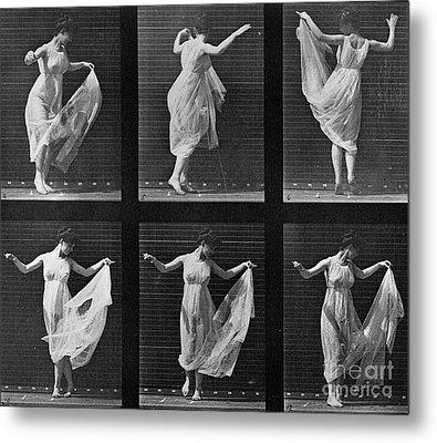 Dancing Woman Metal Print by Eadweard Muybridge