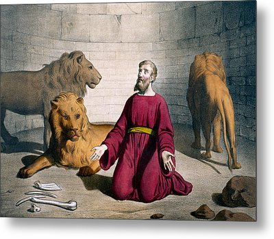 Daniel In The Lions' Den Metal Print by Bequet