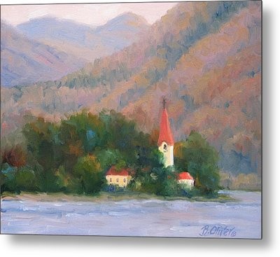 Danube Autumn Metal Print by Bunny Oliver