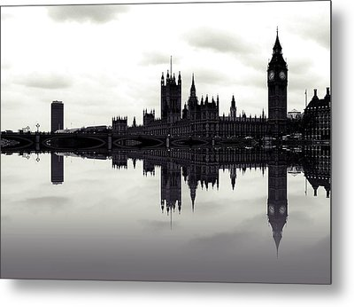 Dark Reflections Metal Print by Sharon Lisa Clarke