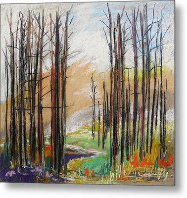 Dark Trees Before Light Metal Print by John Williams