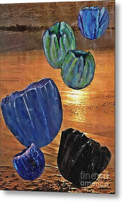 Dark Tulip Sunset Metal Print by Sarah Loft